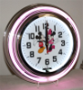 Mickey and Minnie Mouse Double Neon Clock