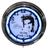 Elvis Double Neon Clock