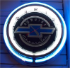 Chevy Neon Light Wall Clock