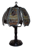 Native American with Indian Scene Touch Lamp - Black Chrome