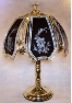 Black Lily With Sparkle Glass Touch Lamp