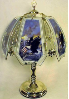 Eagle and US Flag Touch Lamp - Brass