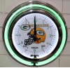 Green Bay Packers1 Double Neon Clock