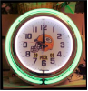Green Bay Packers Double Neon Clock