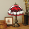 Arkansas Razorbacks - Stained-Glass Tiffany-Style Table Lamp