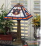 Auburn Tigers - Stained-Glass Mission-Style Table Lamp