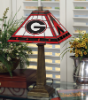 Georgia Bulldogs - Stained-Glass Mission-Style Table Lamp