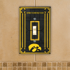 Iowa Hawkeyes - Single Art Glass Light Switch Cover