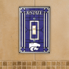 Kansas State Wildcats - Single Art Glass Light Switch Cover