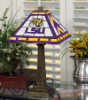 Louisiana State Tigers - Stained-Glass Mission-Style Table Lamp