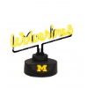 Michigan Wolverines - Neon Script Desk Lamp