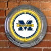 Michigan Wolverines - Neon Light Wall Clock