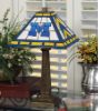 Michigan Wolverines - Stained-Glass Mission-Style Table Lamp