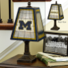 Michigan Wolverines - Art Glass Table Lamp