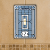 North Carolina Tar Heels - Single Art Glass Light Switch Cover