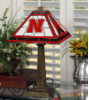 Nebraska Cornhuskers - Stained-Glass Mission-Style Table Lamp