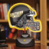 Southern Miss Golden Eagles - Neon Helmet & Cap Desk Lamp