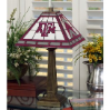 Texas A&M Aggies - Stained-Glass Mission-Style Table Lamp