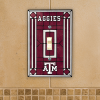 Texas A&M Aggies - Single Art Glass Light Switch Cover