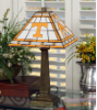 Tennessee Volunteers - Stained-Glass Mission-Style Table Lamp