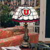 Utah Utes - Stained-Glass Tiffany-Style Table Lamp