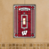 Wisconsin Badgers - Single Art Glass Light Switch Cover
