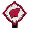 Wisconsin Badgers - Vintage Art Glass Night Light