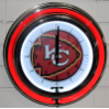 Kansan City Chiefs Double Neon Clock