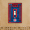 Chicago Cubs - Single Art Glass Light Switch Cover