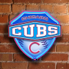 Chicago Cubs - Neon Shield Wall / Window Lamp