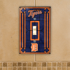 Detroit Tigers - Single Art Glass Light Switch Cover