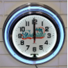 Miami Dolphins Double Neon Clock