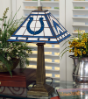 Indianapolis Colts - Stained-Glass Mission-Style Table Lamp