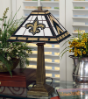 New Orleans Saints - Stained-Glass Mission-Style Table Lamp