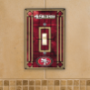 San Francisco 49ers - Single Art Glass Light Switch Cover