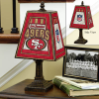 San Francisco 49ers - Art Glass Table Lamp