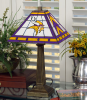 Minnesota Vikings - Stained-Glass Mission-Style Table Lamp