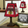 Chicago Blackhawks - Art Glass Table Lamp