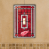 Detroit Red Wings - Single Art Glass Light Switch Cover