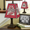 Detroit Red Wings - Art Glass Table Lamp