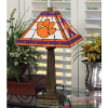 Clemson Tigers - Stained-Glass Mission-Style Table Lamp