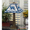 Kentucky Wildcats - Stained-Glass Mission-Style Table Lamp