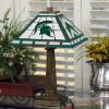Michigan State Spartans - Stained-Glass Mission-Style Table Lamp