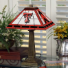 Texas Tech Raiders - Stained-Glass Mission-Style Table Lamp