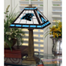 Carolina Panthers - Stained-Glass Mission-Style Table Lamp