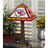 Kansas City Chiefs - Stained-Glass Mission-Style Table Lamp