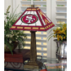 San Francisco 49ers - Stained-Glass Mission-Style Table Lamp