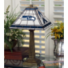 Seattle Seahawks - Stained-Glass Mission-Style Table Lamp