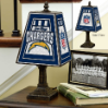 San Diego Chargers - Art Glass Table Lamp