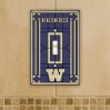 Washington Huskies - Single Art Glass Light Switch Cover